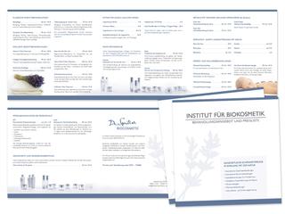 Preisliste für das Institut für Biokosmetik