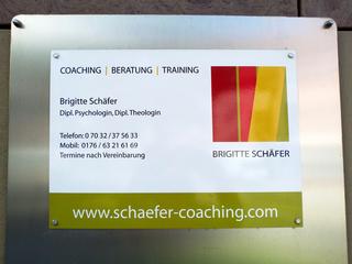Schild für Schäfer Coaching