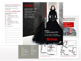 Einladungsflyer zur Tapetenmesse 2014