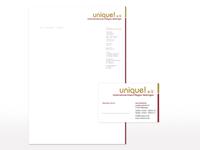 Geschäftsausstattung für unique! e.V.