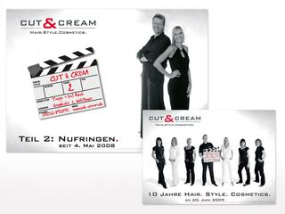 Großflächenplakate für Cut & Cream