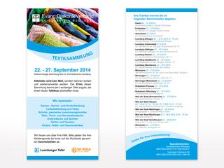 Flyer zur Textilsammlung