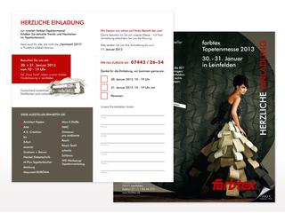 Einladungsflyer zur Tapetenmesse 2013