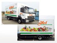 Fahrzeugbeschriftung Knittel-LKW