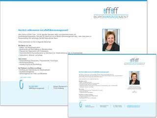 Webvisitenkarte für effeff Büromanagement