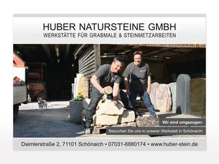 Großflächenplakat für Huber Natursteine GmbH