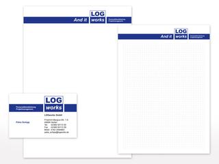 Geschäftsausstattung für LOGworks GmbH