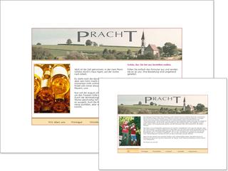 Webseite für Weingut Pracht
