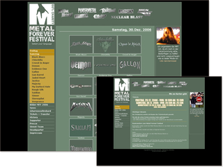 Webseite Metalforever
