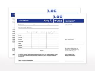 Durchschreibesatz für LOGworks GmbH