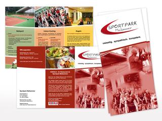 Flyer für den Sportpark