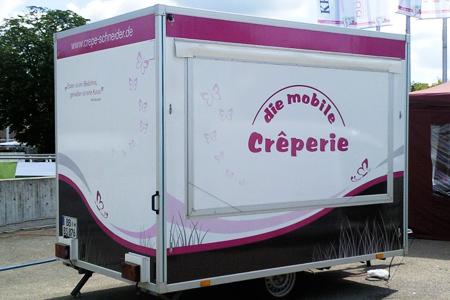 Beklebter Crêpe-Imbisswagen